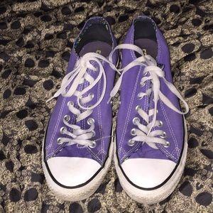 Converse purple sneakers